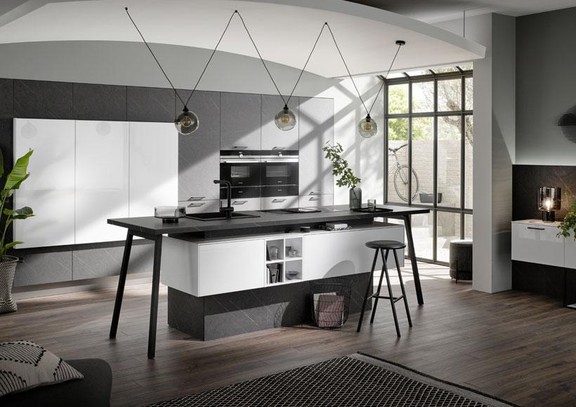 Premium-Küche mit Marmor