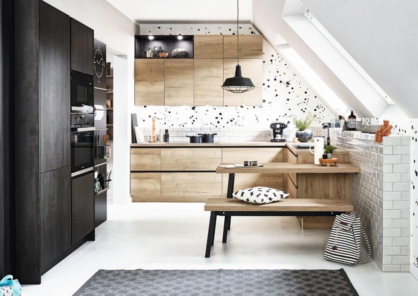 Premium-Küche Holz