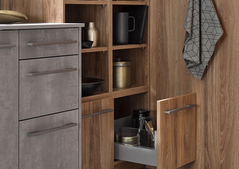 Premium-Küche Detail: Auszüge